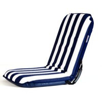 Comfort seat blue and white stripe